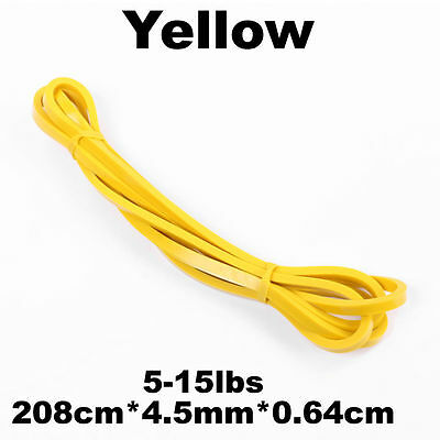 Set Of 5 Heavy Duty Resistance Band Loop Power Gym Fitness Exercise Yoga Workout 5