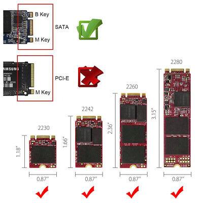 2.5 Inch SATA to M2 NGFF SSD Enclosure Converter Internal / External Adapter 7