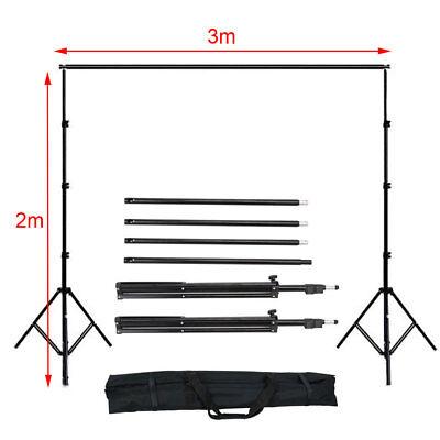 Photography Studio Backdrop Soft Umbrella Lighting Kit +Background Support Stand 4