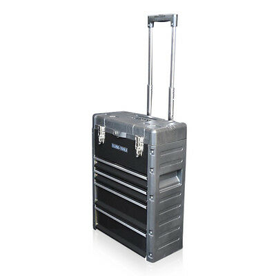 320 US PRO Tools Black Mobile Roller Chest Trolley Cart Storage cabinet Tool Box 12