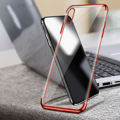 iPhone XS MAX XR X 8 7 Plus Shockproof Case Soft Bumper Tough Clear Cover Apple 9