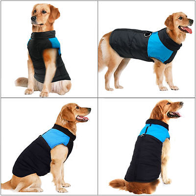 Waterproof Pet Dog Warm Padded Vest Coat Clothes Puppy Winter Jacket Apparel UK 6