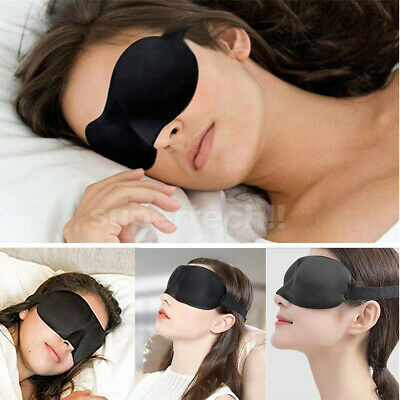 4x Travel Sleep Eye Mask Soft Memory Foam Padded Shade Cover Sleeping Blindfold 11