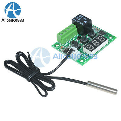 DC12V Red W1209 Digital thermostat Temperature Controler -50-110°C  + Sensor 8