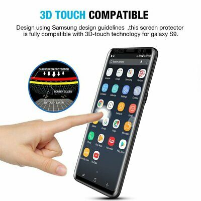 For Samsung Galaxy S9 S8 Plus - FULL COVER 3D Tempered Glass Screen Protector 8