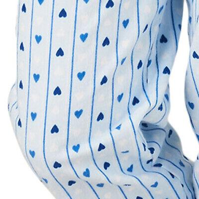 7a2743bf8e9e7 ... Femmes Slenderella Pyjama Coton Uni Haut Jersey & Imprimé Cœur Flanelle  Bas 8