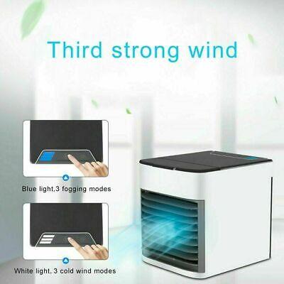 Mini Condizionatore Ad Acqua Portatile Ventilatore Umidificatore Led Vento Usb 4