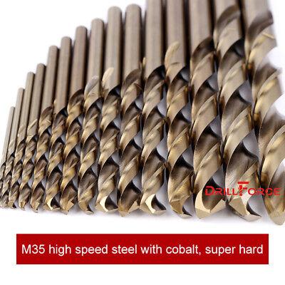 "10PCS 3/16"" Cobalt Drill Bit Set M35 HSS Jobber Length Twist Drill Bits Tools"