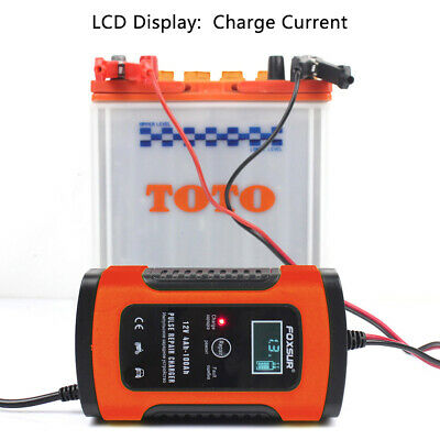Car Battery Charger 12V 5A LCD Intelligent Automobile Motorcycle Pulse Repair UK 5