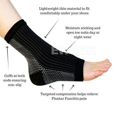 2 Pair Foot Sleeve Plantar Fasciitis Compression Socks Achy Swelling Heel Ankle 8