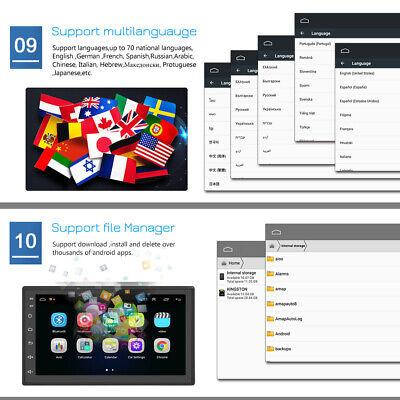 """7 """"Android 8.1 AUTORADIO con navegación GPS NAVI BLUETOOTH WIFI DOBLE 2 DIN MP3 11"""