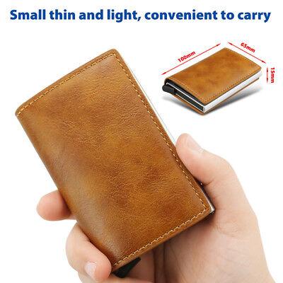 New Leather Credit Card Holder Men's Money cash Wallet Clip RFID Blocking Purse 5