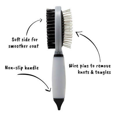 AllPetSolutions Dog Puppy Cat Pet Grooming - Comb, Slicker Brush, Dematting Tool 8
