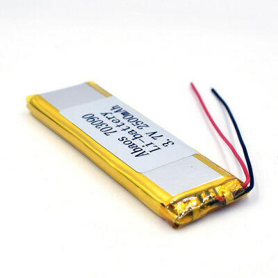 3.7V 2500mAh 703090 Li-Polymer Rechargeable Cell Li-ion LiPo Battery for GPS MP3 9