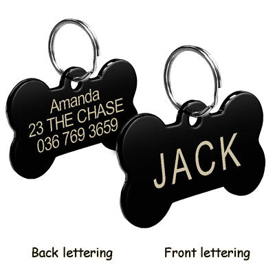 Stainless Steel Personalized Dog Tags Custom Engraved Cat Dog Name ID Phone Tag 5