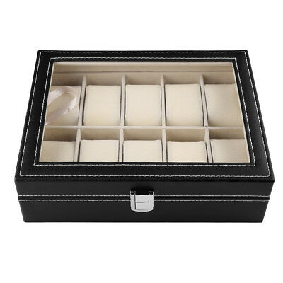 Coffret boîte à Montre boîtier pour 10/12/24 montres rangement bijoux présentoir 5