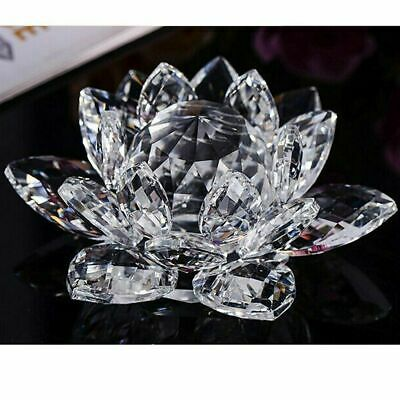 Large Clear Crystal Lotus Flower Ornament With Gift Box  Crystocraft Home Decor 2