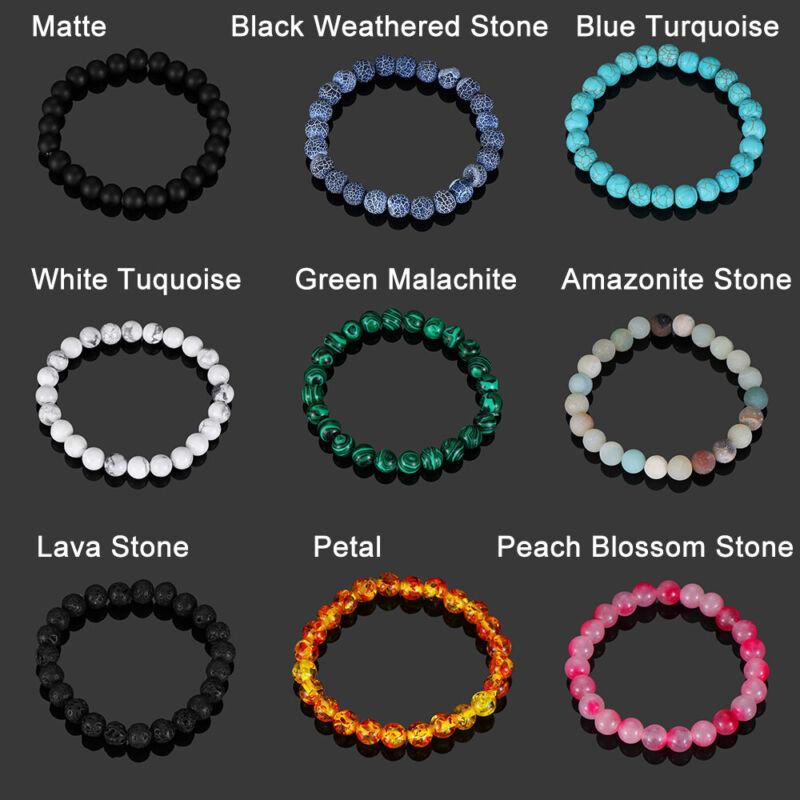 Bracelet de perles en pierre naturelle cadeau bracelet turquoise oeil de tigre 2