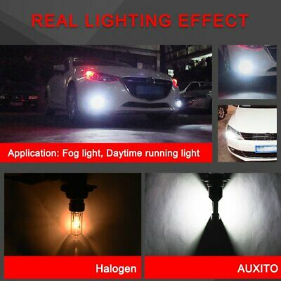 2x AUXITO H10 9140 9145 CSP LED Fog Light DRL Replace Halogen Lamp Globes 6000K 8