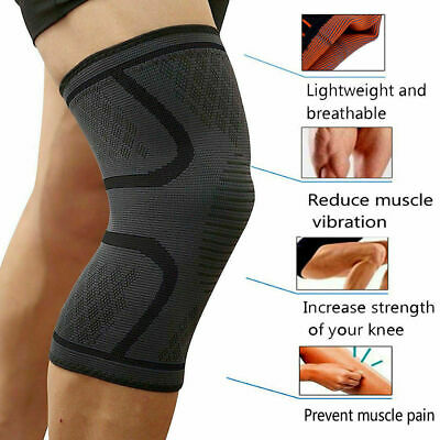 2pcs Knee Sleeve Compression Brace Support For Sport Joint Pain Arthritis Relief 4