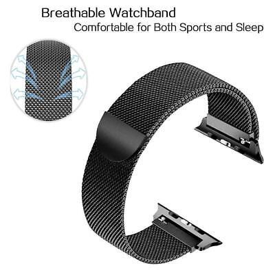 Cinturino Apple Watch 42/40/38/44mm Maglia Milanese acciaio inox serie 5 4 3 2 1 3