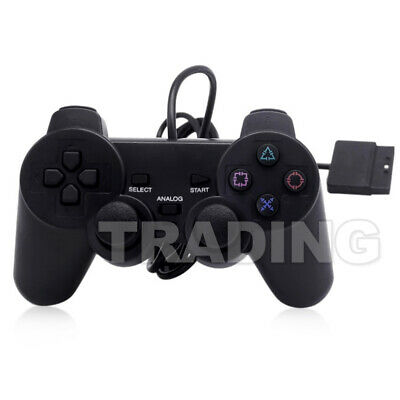 2x For PS2 PlayStation 2 Wire Cable Controller Dual Shock Gamepad Console Joypad 3