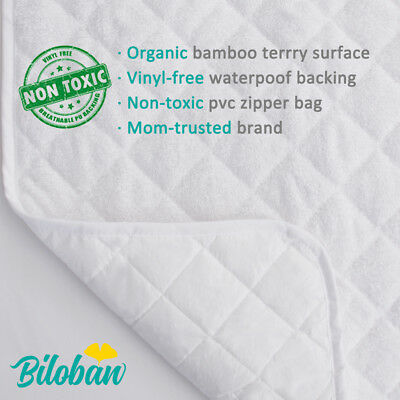 Infant Ultra Soft Bomboo Baby Diaper Changing Pad Cover Liner Waterproof 3 Pack 2