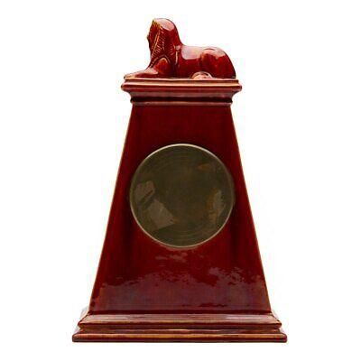 Burmantofts Faience Mantel Clock With Sphinx 4