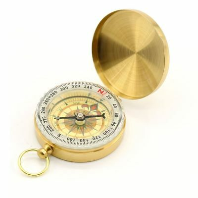 Vintage Brass Noctilucent Pocket Compass Hiking Camping Watch Style Retro ONE 6