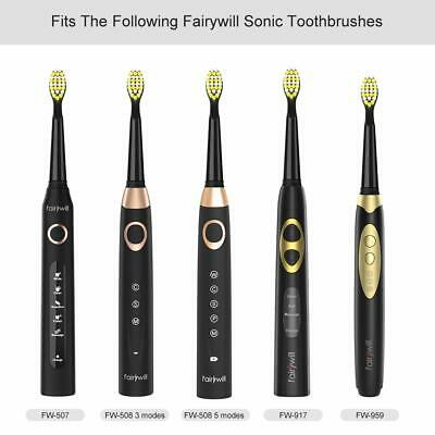 Fairywill 5 Mode Powerful Electric Toothbrush Waterproof 4 Hours USB Fast Charge 12