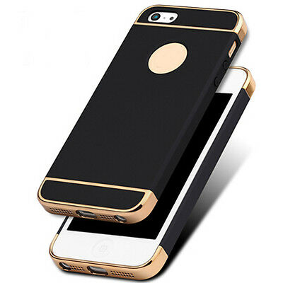 For iPhone SE 5 5s Case Ultra Thin Chrome Acrylic Hybrid Back Shockproof Cover 3