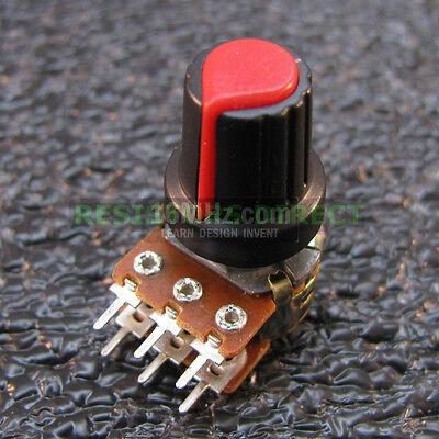 3x 1K Ohm Linear Taper Solder Lug Potentiometer B1K Black Knob USA 3pcs U61
