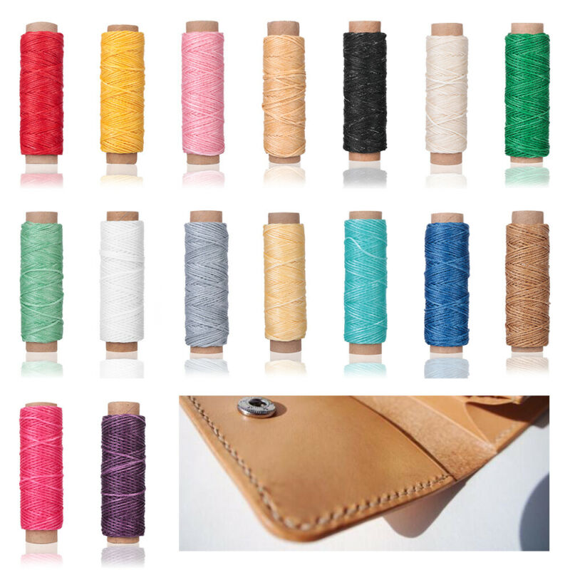 30m/roll Waxed Thread Cotton Cord String Strap Hand Stitching Thread 3