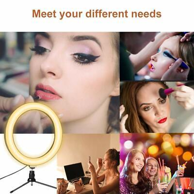 """10"""" LED Ring Light with Stand for Youtube Tiktok Makeup Video Live Phone Selfie 7"""