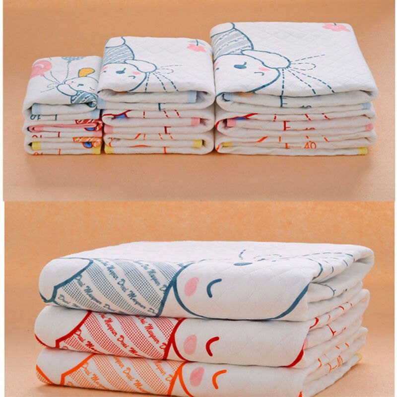 Cotton Baby Infant Waterproof Pad Bed Sheets Changing Mat Babys Urine Pad 2