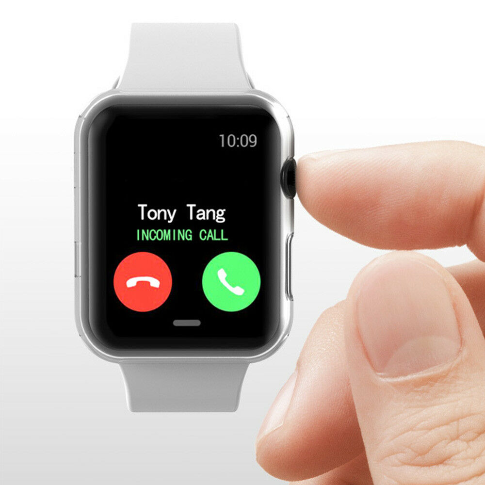 For Apple Watch Series 4 iWatch 40/44mm Clear TPU Screen Protector Case 2