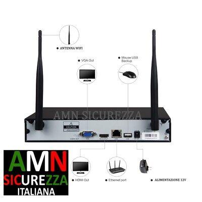 Kit Wireless Wifi Videosorveglianza Ip Ahd 2Mp Dvr Full Hd 4 Telecamere Hd 500Gb 4