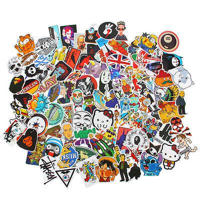 200/400 Random Stickers Vinyl Skateboard Guitar Travel Case sticker pack decals