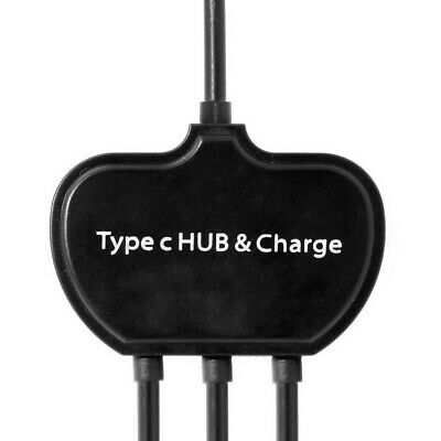 USB-C  OTG Cable Dual Ports USB Hub With Type-C Power Charging Port 5