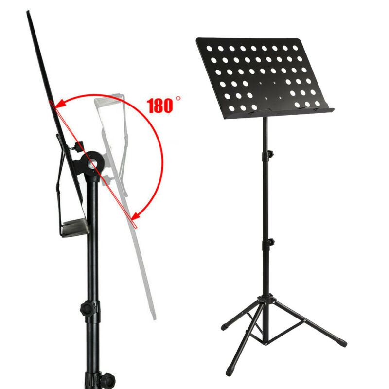 Heavy Duty Foldable Music Stand Holder Base Tripod Orchestral Conductor Sheet 5