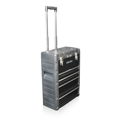 320 US PRO Tools Black Mobile Roller Chest Trolley Cart Storage cabinet Tool Box 8