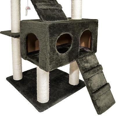 Arbre à chat griffoir grattoir anthracite grises 186 cm 4