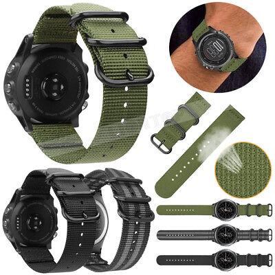 For Garmin Fenix 3 5 5X 5S Nylon/Silicone Strap Replacement Watch Band Bracelet 8