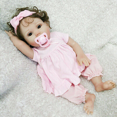 "16""Handmade Realistic Reborn Baby Doll 100% Silicone Vinyl Newborn Girl Toy Xmas 2"