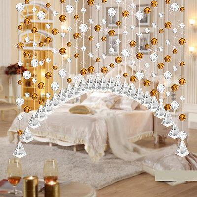 1pc Crystal Glass Bead Curtain Living Room Bedroom Window Door Wedding Decor Hot