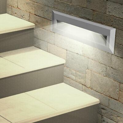 4x LED Exterior Pared Fachadas Lámparas Jardín Balcón Niveles Foco Gris Big Luz 4
