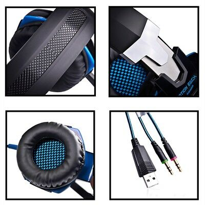 3.5mm Gaming Headset Mic Headphones Stereo Surround for PS3 PS4 Xbox ONE 360 PC 8