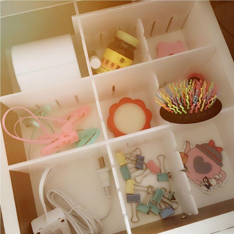 Plastic DIY Drawer Separator Divider Storage Organizer Grid 2