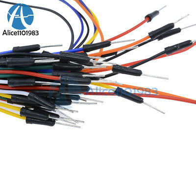 65Pcs Male to Male Solderless Flexible Breadboard Jumper Cable Wires For Arduino 4
