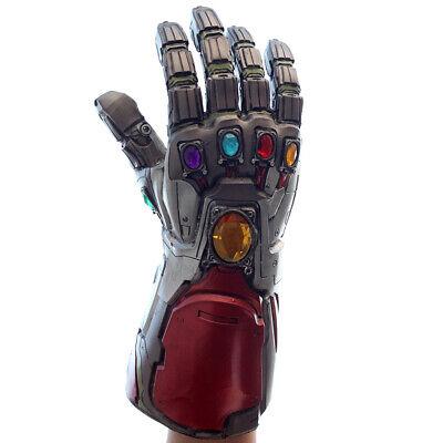 US!Avengers4: Endgame Iron Man Infinity Stone Gauntlet Cosplay Latex Glove Props 2
